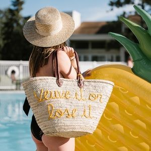 veuve it or lose it large straw tote